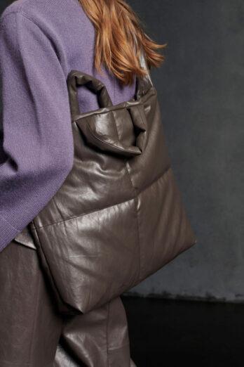 torba-luisa-cerano-brazowa shoperka wygodna duża butik luisa bydgoszcz na ramię