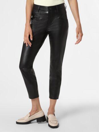 spodnie-cambio-eko skóra czarne rockowe modowe dopasowane butik luisa bydgoszcz